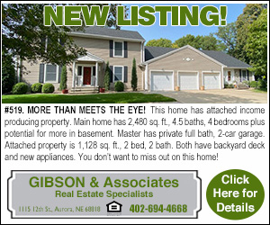 Gibson Realty New Listing