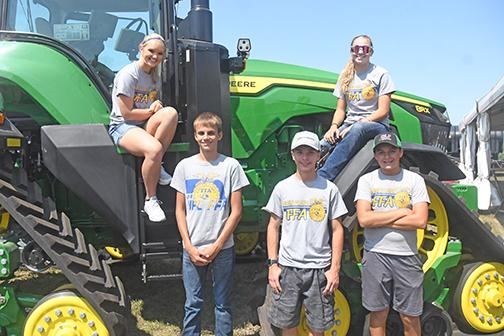 HPC FFA members who volunteered to assist with the Orthamn research project include from left: Brianna Wilshusen, Tyler McNaught, Cameron Bohaboj, Emma Snoberger and Ryan McNaught. News-Register/Jeni Moellenberndt