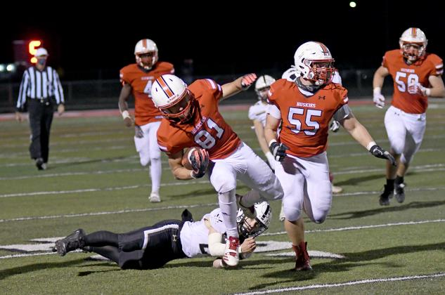 The Aurora Huskies football team played well over the weekend, though their efforts were not enough to secure the win.