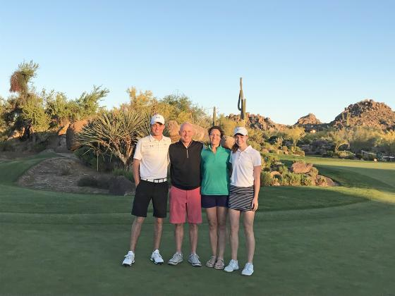 Caleb, Craig, Jennifer and Danica Badura spend ample amounts of (willing) family time together on the green, including vacations to Arizona.