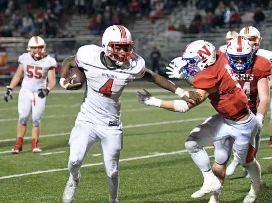 Mack Owens rushed for 168 yards on 33 carries with all four Aurora touchdowns in a 28-21 win over Norris Friday.