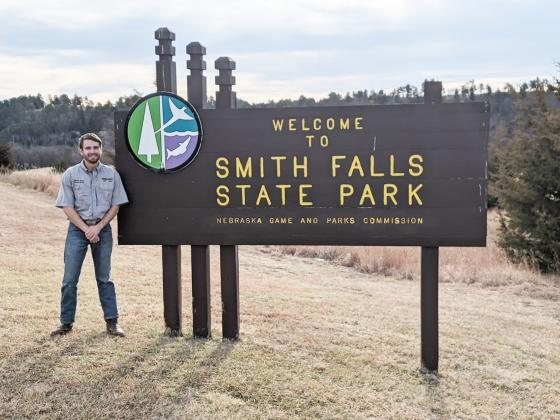Alex Lohrmeyer stands outside Smith Falls, where he was the superintendent over the course of this season.