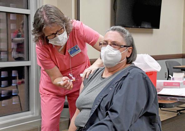 A number of vaccines were administered Monday in Aurora.