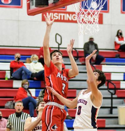 Aurora's Tate Nachtigal led the Huskies with 17 points in a 50-44 win at Adams Central Thursday.
