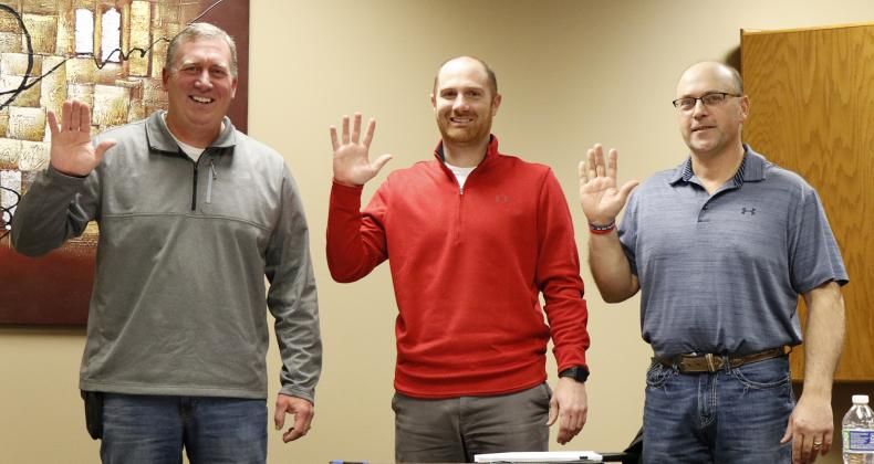 Newly elected (and re-elected) 4R board members included, from left, Scott Schuster, Brock Wyatt and Dan Pachta.