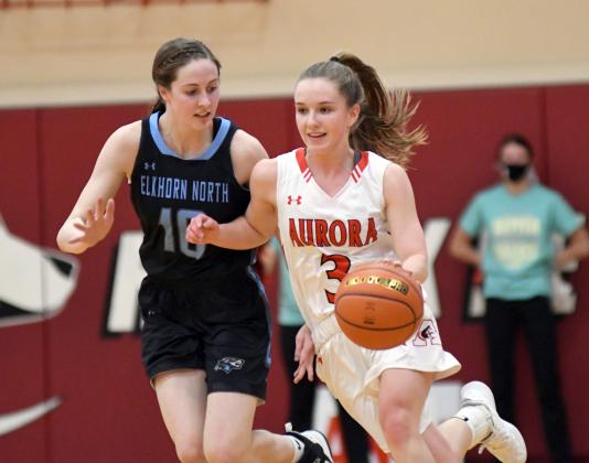 Aurora's Cassidy Knust scored 11 points in a 46-36 loss to undefeated Elkhorn North Saturday.
