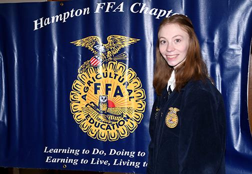 Hampton FFA President Sarah Logue said she gained confidence and a broader perspective on all things agriculture during the four years she wore her familiar blue FFA jacket.