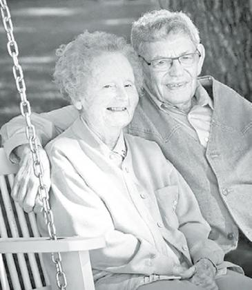 JoAnn and Max Friesen sit together after being married for 70 years. Courtesy photo